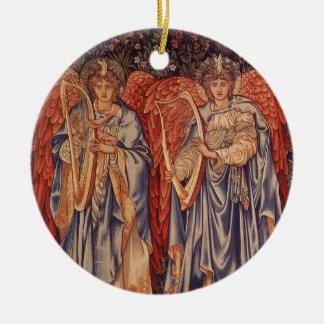 Vintage Engel, Angeli Laudantes durch Burne Jones Keramik Ornament