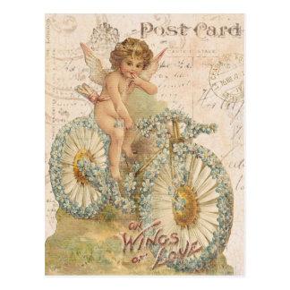 Vintage Engel Valentinepostkarte
