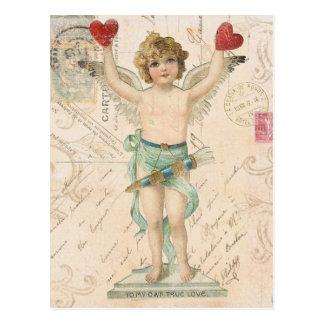 Vintage Engel Valentinepostkarte Postkarten