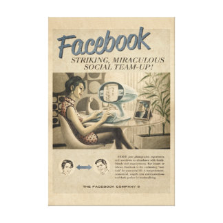 Vintage Facebook Leinwand