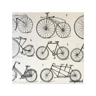 Vintage Fahrräder Leinwand Drucke