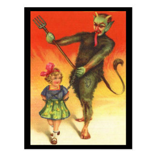 Vintage Feiertag Krampus Postkarte