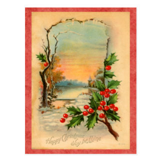 Vintage Feiertags-Postkarte Postkarte