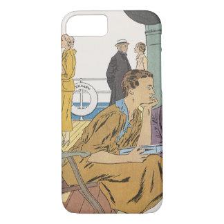 Vintage Ferien, Passagier-Kreuzfahrt-Schiff auf iPhone 8/7 Hülle