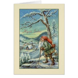 Vintage finnische Hyvää Joulua Weihnachtskarte Karte