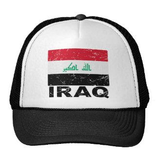 Vintage Flagge des Iraks Trucker Kappe