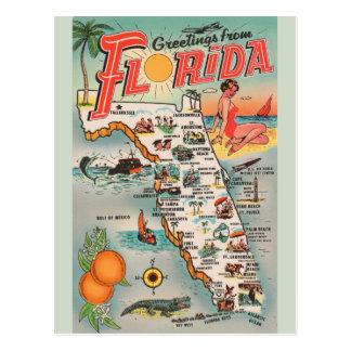 Vintage Florida-Karten-Postkarte Postkarte