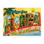 Vintage Florida-Postkarte