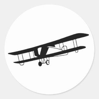 Vintage Flugzeug-Aufkleber Runder Aufkleber
