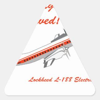 Vintage Flugzeuge Lockheeds Electra Dreiecks-Aufkleber