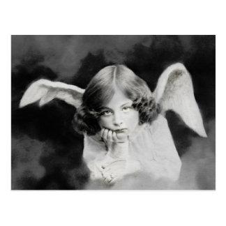 Vintage Foto Engel Postkarte