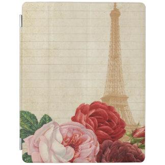Vintage Frankreich- - Eiffel-Turm Ipad Abdeckung iPad Hülle