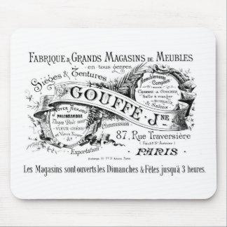 Vintage französische Werbungstypographie Mauspads