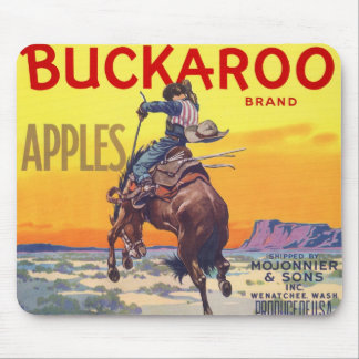 Vintage Frucht-Kisten-Aufkleber-Kunst, Mousepad