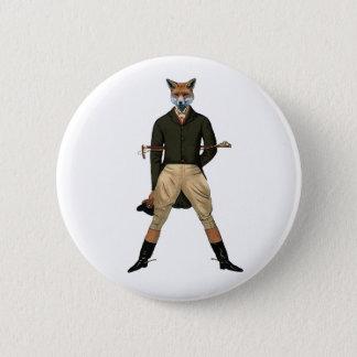 Vintage Fuchs Jagd Runder Button 5,7 Cm