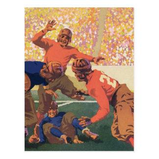 Vintage Fußball-Postkarte Postkarte