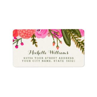 Vintage Garten-Adressen-Etiketten Adressaufkleber