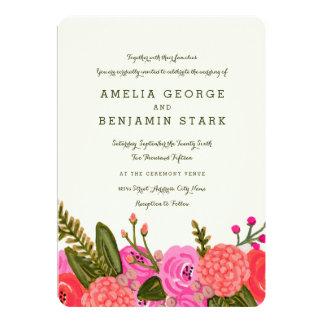 Vintage Garten-Hochzeits-Einladung 12,7 X 17,8 Cm Einladungskarte