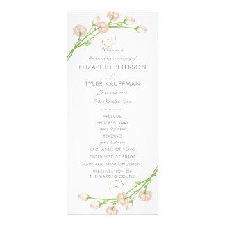 Vintage Garten-Rosen, die Programm Wedding sind 12,2 X 22,9 Cm Kartendruck