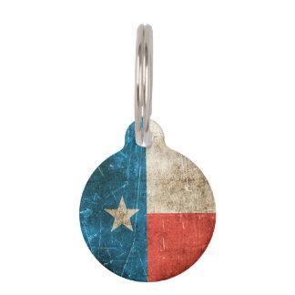Vintage gealterte und verkratzte Flagge von Texas Tiermarke