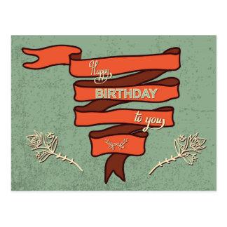 Vintage Geburtstags-Karte #2 Postkarte