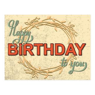 Vintage Geburtstags-Karte #5 Postkarte