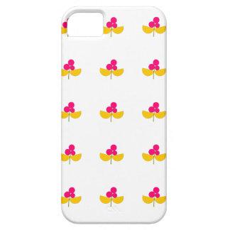 Vintage gelbe und rosa Blumen Etui Fürs iPhone 5