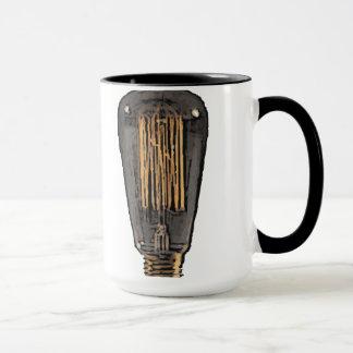 Vintage Glühlampe Tasse