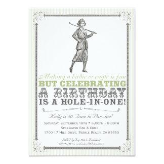 Vintage Golf-Party Einladung - Frau