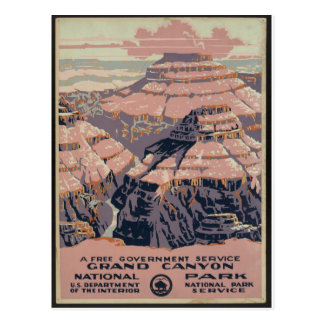 Vintage Grand Canyonkunst Postkarte