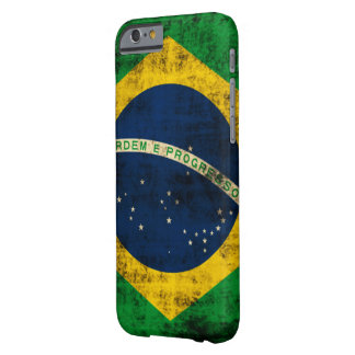 Vintage Grunge-Flagge von Brasilien Barely There iPhone 6 Hülle