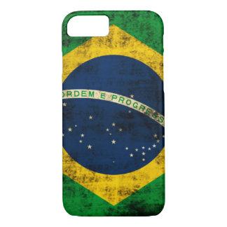 Vintage Grunge-Flagge von Brasilien iPhone 8/7 Hülle