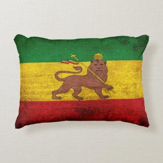 Vintage Grunge Rastafarian Flagge Deko Kissen