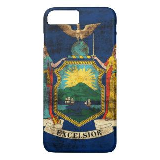 Vintage Grunge-Staats-Flagge von New York iPhone 8 Plus/7 Plus Hülle