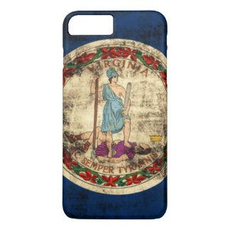 Vintage Grunge-Staats-Flagge von Virginia iPhone 8 Plus/7 Plus Hülle