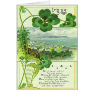 Vintage Gruß-Karte keine St. Patricks Tages17 Grußkarte