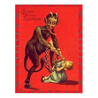 Vintage Gruss Vom Krampus Postkarte