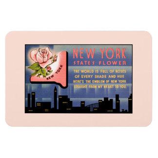 Vintage Grüße der New- YorkStaats-Blume von Magnet