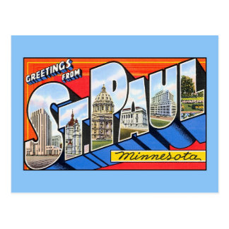 Vintage Grüße vom Heiligen (St.) Paul Minnesota Postkarte