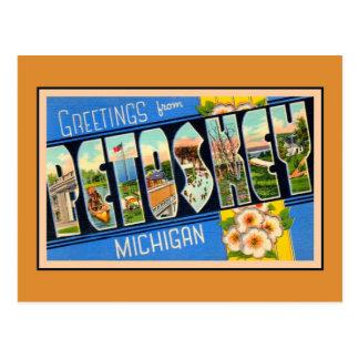 Vintage Grüße von Petoskey Michigan Postkarten