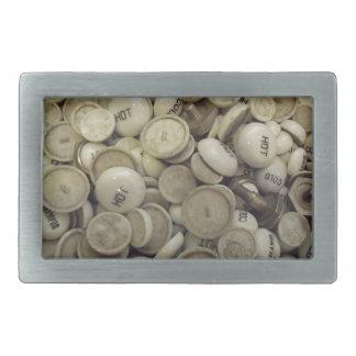 Vintage heiße und kalte Porzellan-Griffe Rechteckige Gürtelschnallen