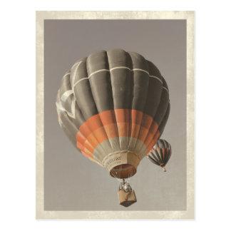 Vintage Heißluft-Ballon-Postkarte Postkarte