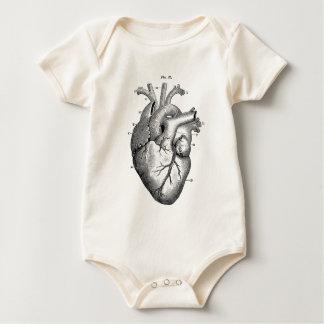 Vintage Herz-Anatomie | kundengerecht Baby Strampler