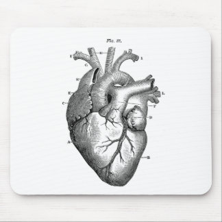 Vintage Herz-Anatomie   kundengerecht Mauspad