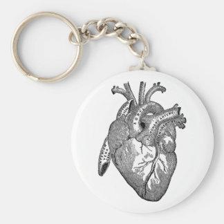 Vintage Herzanatomie Schlüsselanhänger