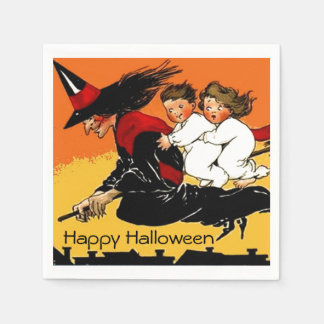 Vintage Hexe scherzt Halloween-Party Servietten