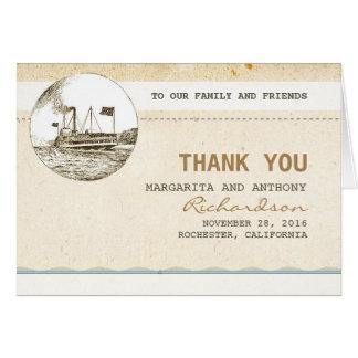 Vintage Hochzeit der Kreuzfahrt danken Ihnen Mitteilungskarte