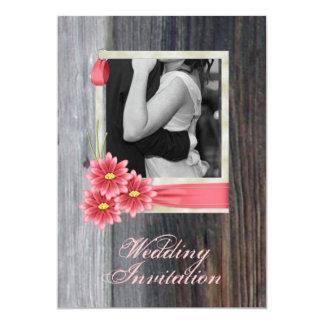 Vintage Hochzeit des rustikalen 12,7 X 17,8 Cm Einladungskarte
