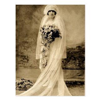 Vintage Hochzeit eine Braut Postkarte