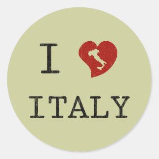 Vintage i-Liebe Italien Runder Sticker